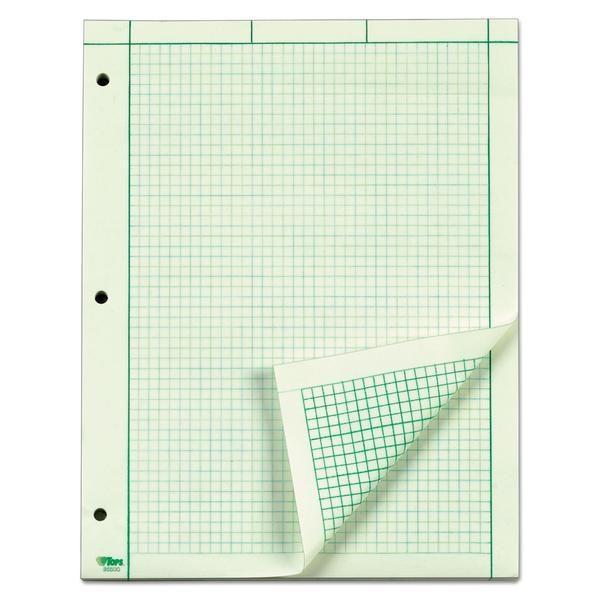 Engineering Computation Pad 8 1 2 X 11 Green 200 Sheets Sheets Pad Sheet Sizes