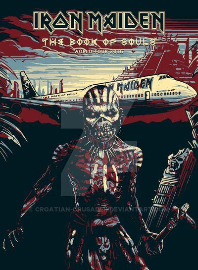 Iron Maiden - The Book of Souls World Tour poster by croatian-crusader.deviantart.com on @DeviantArt