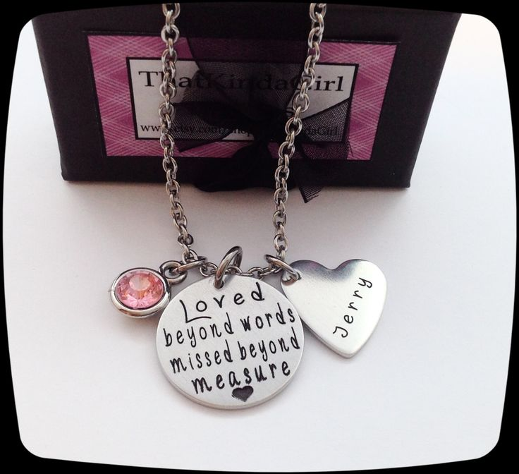 Memorial Jewelry, Loved Beyond Words - Missed Beyond Measure, Loss of dad gift, Loss of Mom, Loss Of Husband, Funeral Gift, Remembrance by ThatKindaGirl on Etsy