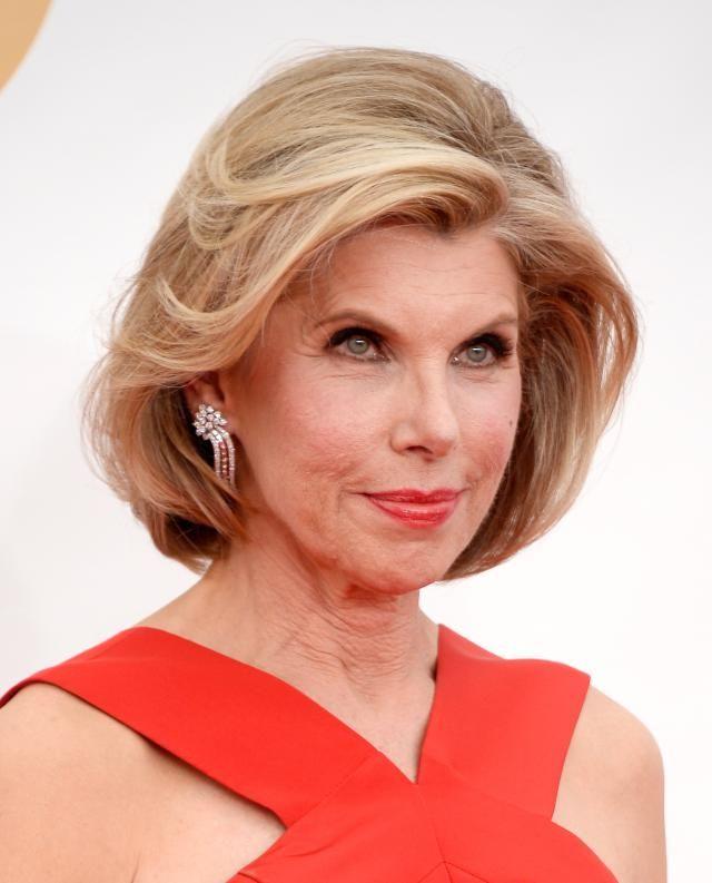 Flattering Bob Hairstyles for Older Women: Christine Baranski [love this actress…