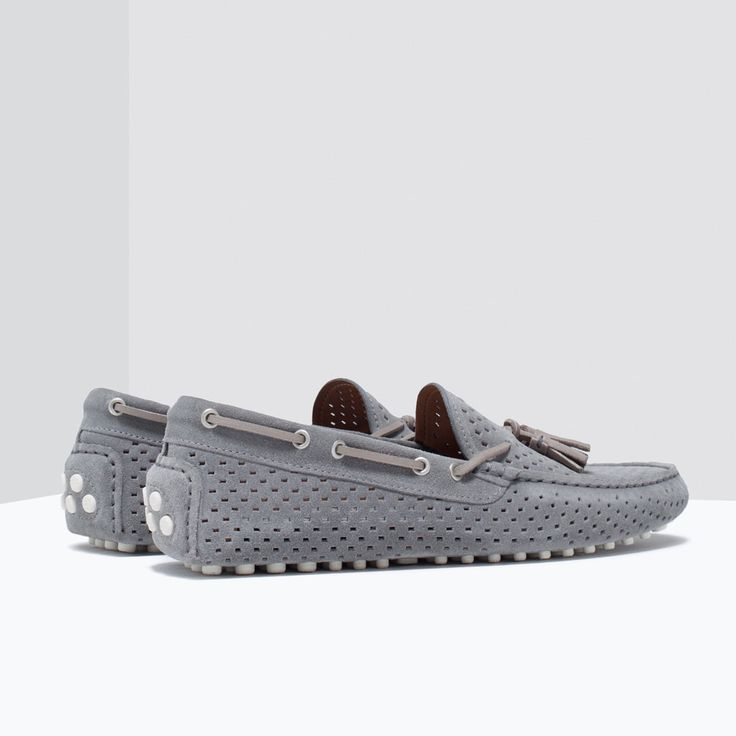 Image 3 of CUT-OUT LEATHER DRIVING SHOES from Zara