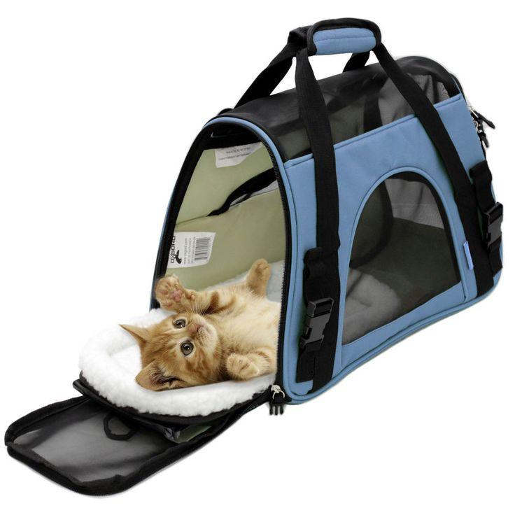 La bolsa de asas del viaje del portador del animal doméstico del gato / del perro del lado suave aprobó la línea aérea   – Bella