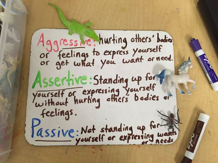 Teaching children how to be assertive, instead of passive or aggressive, is  one of