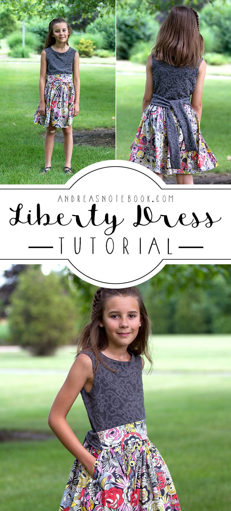 Liberty Dress Tutorial by AndreasNotebook.com - brought to you by Downy Wrinkle Releaser