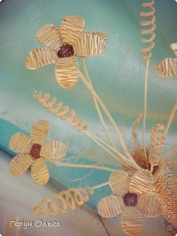 Crafts produto Aplicação Weave Flower Straw vasos 2 fotos