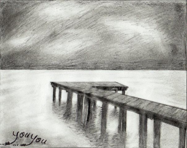 How to draw a landscape study with graphite pencils add for Landscape pencil sketches simple