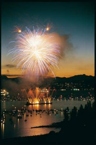Join the locals... summer fireworks in Vancouver