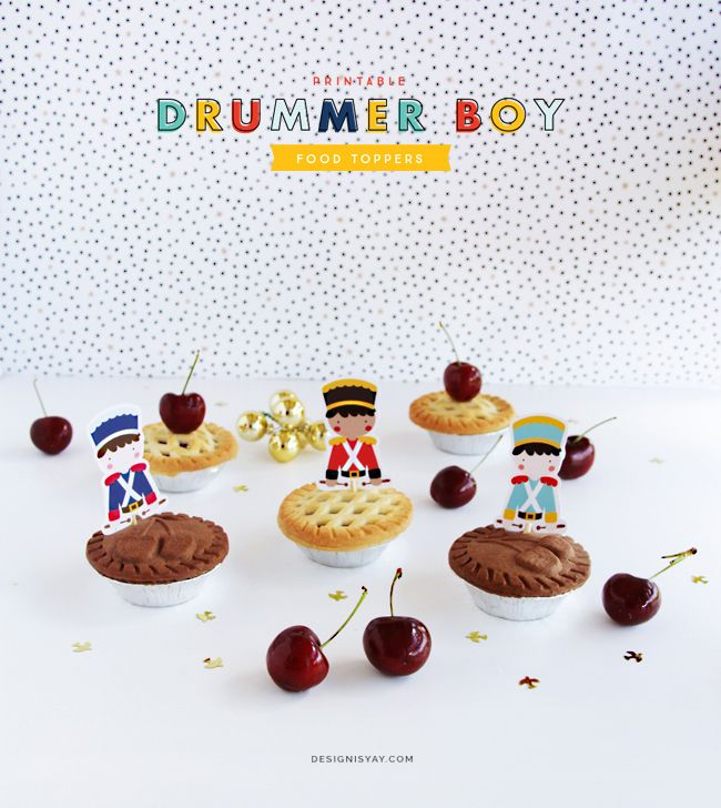 Drummer Boy Food Toppers