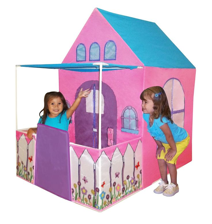 Amazon.com: Playhouse Victorian Princess Castle Play tent with fenced patio by Kids Adventure: Toys & Games