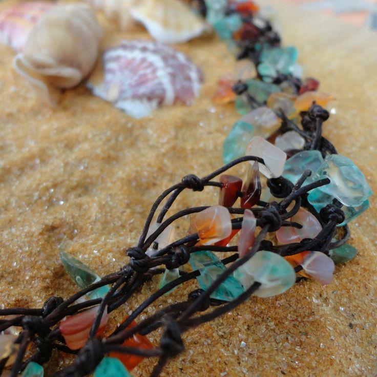"""Halskette """"Blauer Ozean"""" #thai-arts #thaischmuck #schmuck #strandschmuck #urlaubsschmuck #naturschmuck #thailand #halskette #armband #schmuckset #armbänder #halsketten #ketten #kette #reiseschmuck #souvenir #souvenirs #strandsouvenir #urlaubssouvenier #asiaschmuck #strand #urlaub #reise #perlen #steine #muscheln #handarbeit #madeinthailand #onlineshop #shop"""