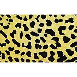 Tapete Marbella Safari Leopardo Veludo 198x250cm - Rayza
