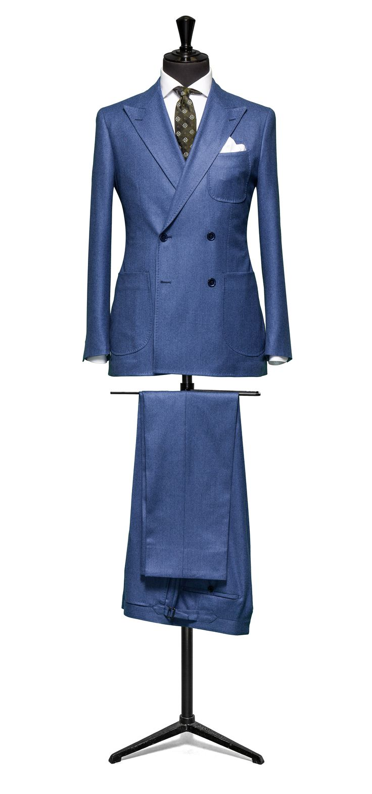 Slate suit Blue plain flannel S120 http://www.tailormadelondon.com/shop/tailored-suit-fabric-4323-plain-blue/