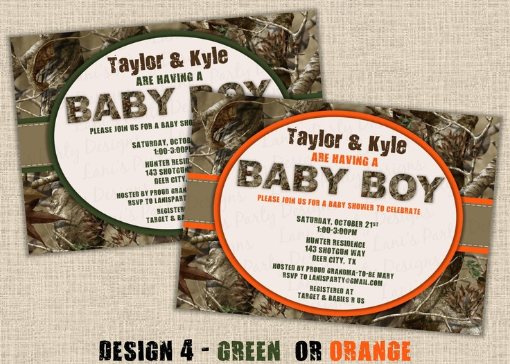camo baby shower - Google Search