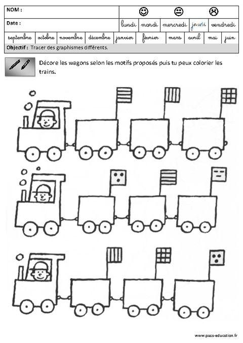 Fiches pédagogiques - Exercices - Graphisme - Maternelle ...