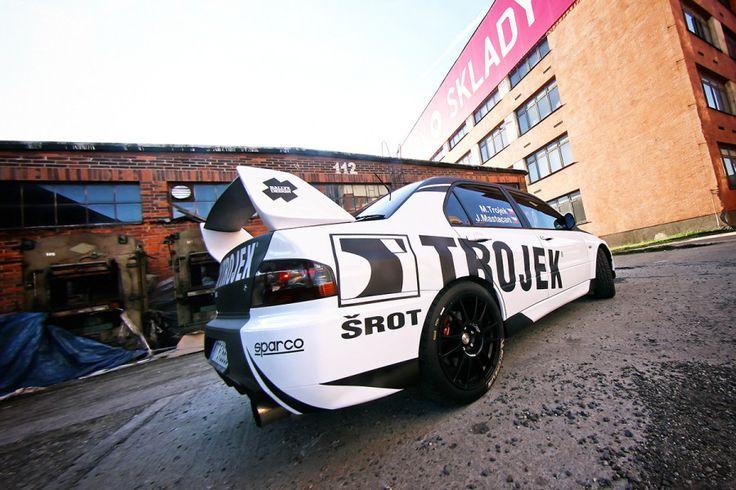 Trojek Racing - M. Trojek - J. Mastacan (Mitusbishi Lancer Evo IX) - design and wrap for season 2012.