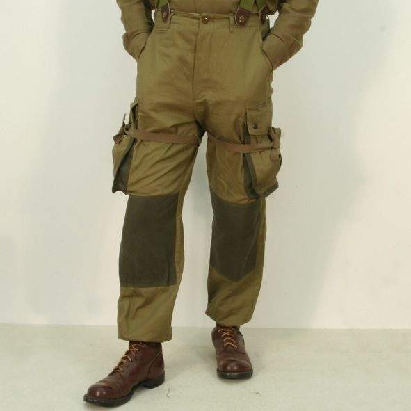 Reinforced M42 para jump trousers by Kay Canvas