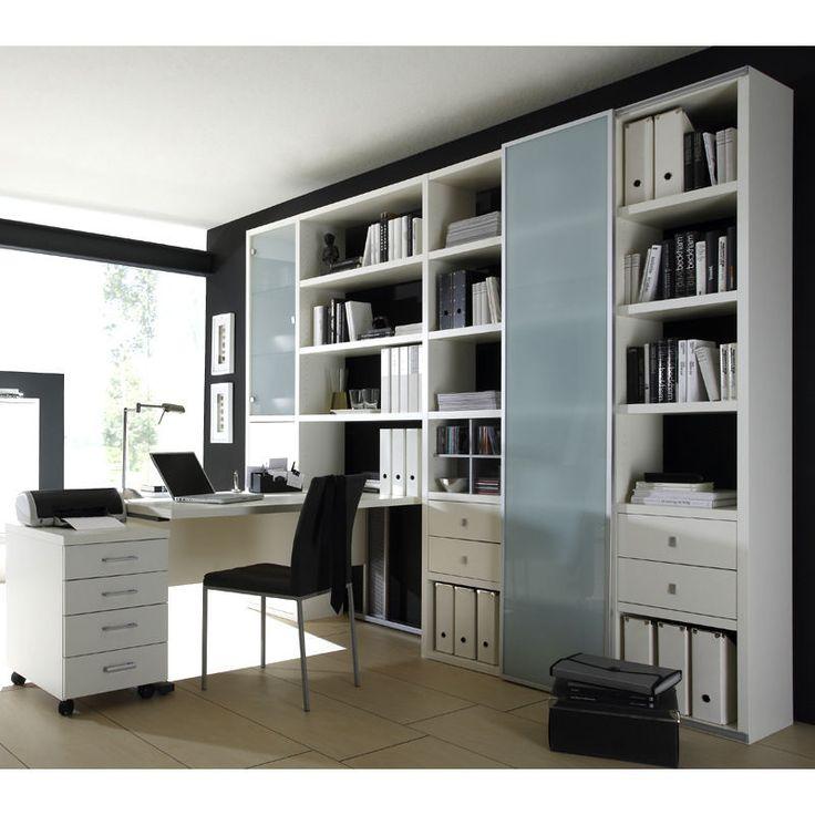 Details zu Wohnzimmer Aktenschrank mit Schreibtisch Lack weiß - ikea wohnzimmer weis