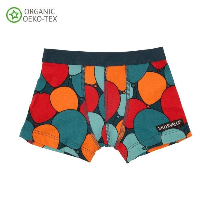 147e7ea938 Balloons Dark Sea Boxers – Modern Rascals. From Sweden's Villervalla kids  clothing.
