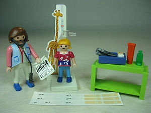 Playmobil 4921 Pediatrician Lady Figure with Child Complete Doctor Hospital   eBay