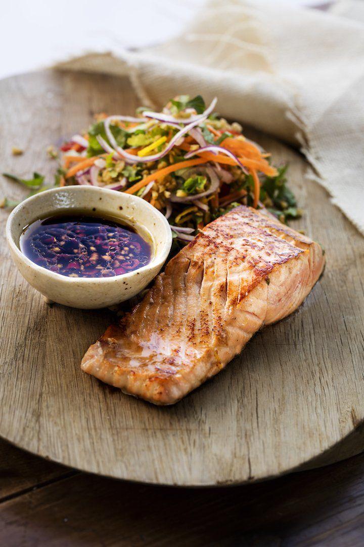 Citrus marinated salmon with freekeh salad + anti-inflammatory eating – Zoe Bingley-Pullin