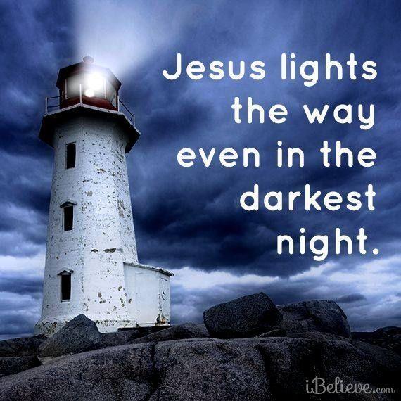 Jesus lights the way quotes night jesus life faith christian