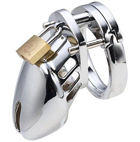 """Sexysamba Stainless Steel Chastity Cage Male Chastities Device Locks Metal CB Birdcage Adult Toys (1.57""""/ 4.0cm),Short -- Continue @ http://www.amazon.com/gp/product/B015H1WZGI/?tag=naughtystore0c-20&pza=190716045920"""