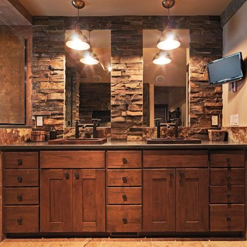 Native Trails copper sinks - rustic bathroom