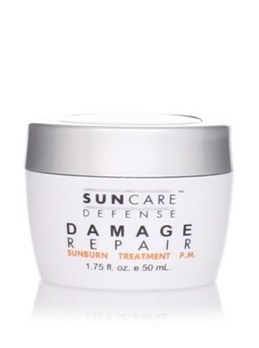 Suncare Defense Damage Repair Sunburn Treatment 1.75 oz by Suncare Defense. $9.50. Help your skin recover and prevent tissue damage. 1.75 oz. Suncare Defense Damage Repair Sunburn Treatment. Helps restore damaged tissues. Suncare Defense Damage Repair Sunburn Treatment  Sunburns happen. Help your skin recover and prevent tissue damage with this intensive overnight sunburn treatment. Fortified with amino acids and Dead Sea minerals, it helps restore damaged tissues. Suncare De...