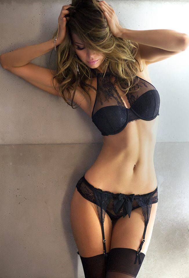 black, lace. and THAT BRA! while this is getting in my closet ill take the body/physique too.