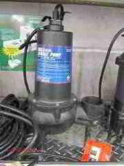 How to avoid damage to septic pumps  Sewage pump (C) Daniel Friedman