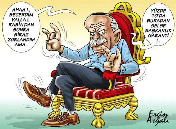 Sözcü çizeri Ergin Asyalı, Cumhurbaşkanı Erdoğan'ın MHP lideri devlet Bahçeli'ye desteği çizdi. Erdoğan'ın özellikle seçim sürecinde kullandığı Rabia simgesi, Mısır'la ilişkiler değişince geri plana atılmıştı. Şimdi sıra Bahçeli'de mi? İşte Asyalı'nın dikkat çeken o karikatürü: