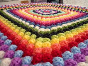 Granny Bobble Blanket. also other good patterns and links on this blog