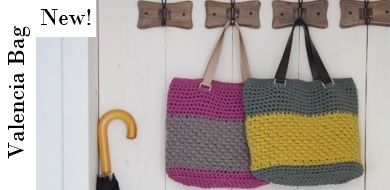 Check out our newest pattern: the Valencia bag. Love it