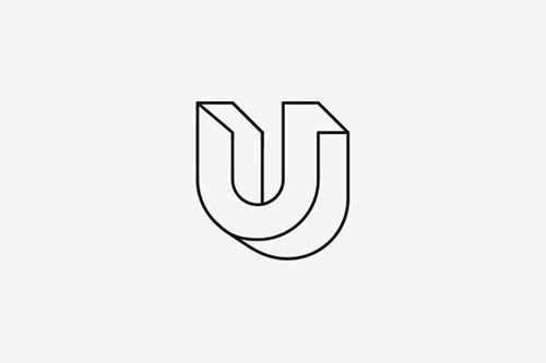 U-bending logo for construction company.