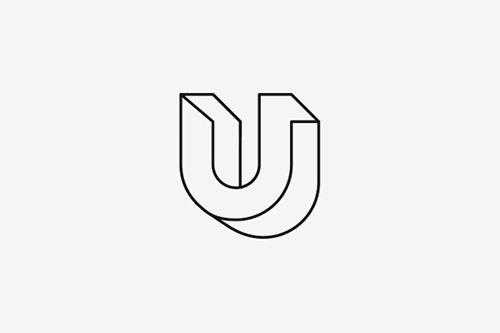 U-bending logo for construction company.