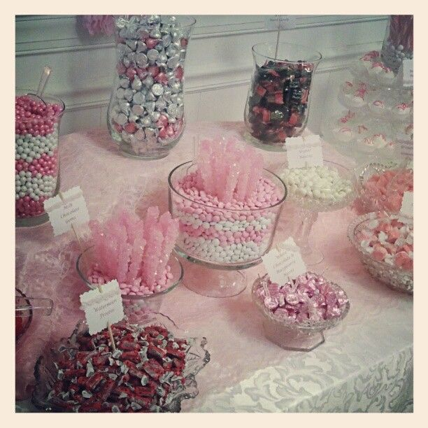 from My Blessed Life - candy buffet - pink!!!