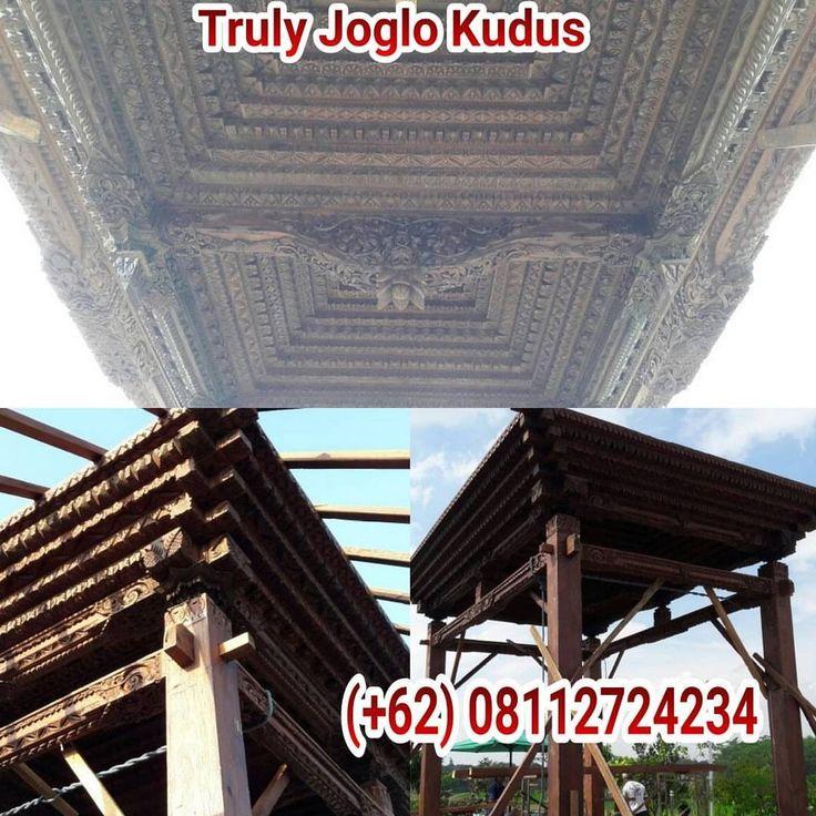 "Day 4 (Project Joglo pendopo on second floor for restaurant @ Jogja), a custom design Javanese ""Pendopo 7x9 meter Joglo ukir soko 25cm"" for 2nd floor restaurant. Made of fine reclaimed teakwood and..."