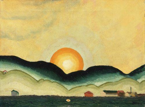 arthur dove   Arthur Dove Sunrise, Northport Harbor 1924