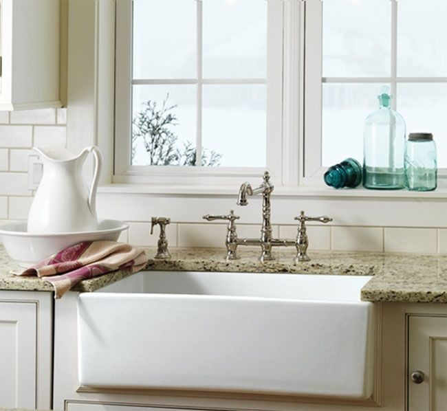 KNBDesign KNB3018 Fireclay Farm Sink Installed in Kitchen