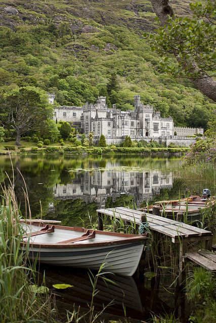 At the Kylemore Abbey in Ireland. The abbey was founded for Benedictine Nuns who fled Belgium in World War I.