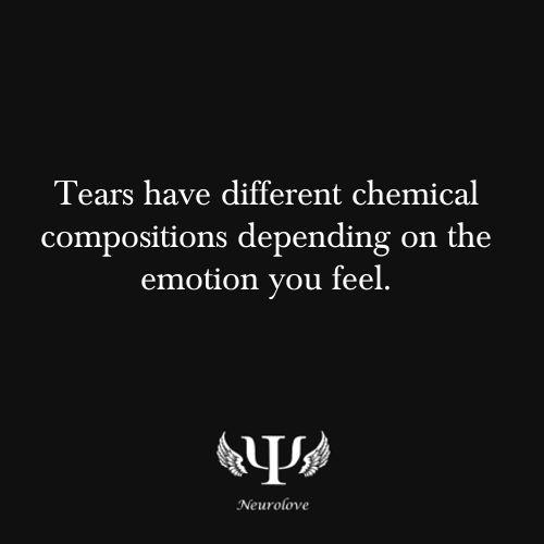 Wist je dat ... De chemische samenstelling van onze tranen worden bepaald door de emotie die we op dat moment voelen?