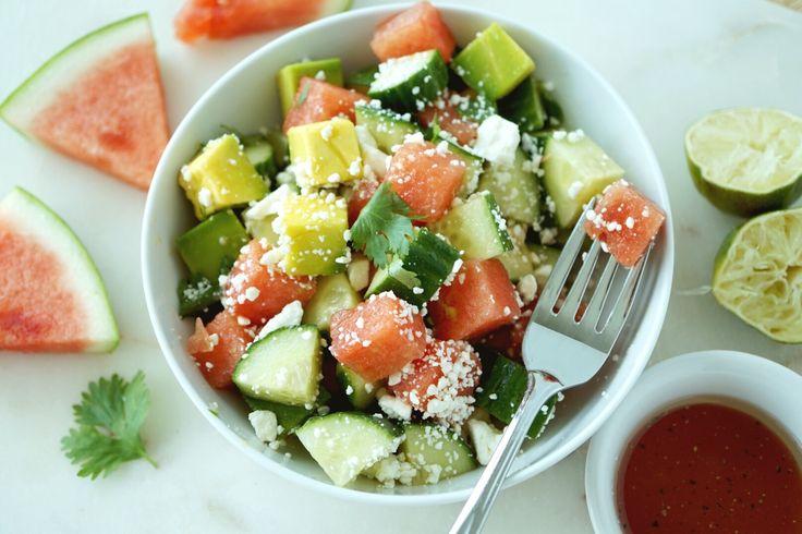 Watermelon Avocado Salad