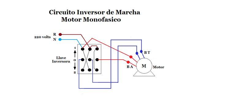 Circuito Inversor De Giro Con Llave Inversora Motor