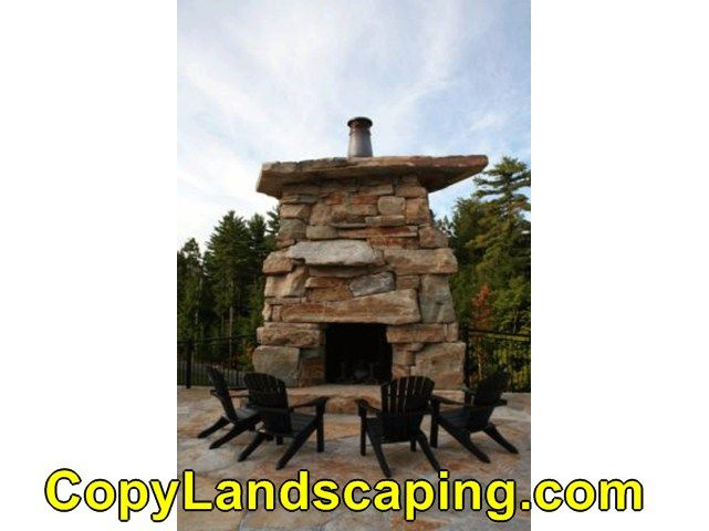 Awesome  outdoor fireplace terracotta