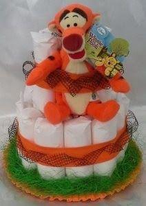 La fantasia nelle mani: Torta pannolini Pampers,Tigro Disney