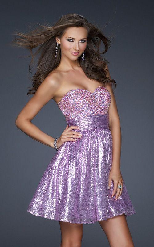 Light Purple One Strap Short Prom Dresses