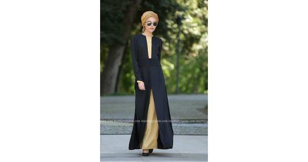 Nayla Collection - Sarı / Siyah Tulum  #tesetturgiysim #kampanya #bayangiyim #tesettürgiyim #tesettür #elbise #tulum #tesettürtulum #tesettürelbise #tesettürtrend #tesettürmodası #ramazan #bayram #ramazanbayramı
