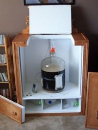 Home brewing fermenting chiller.