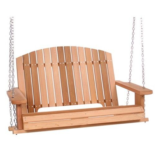 All Things Cedar Pergola 4ft. Cedar High Back Porch Swing   PS50U