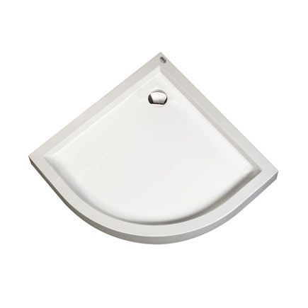 Plato de ducha angular 75cm lado.